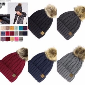 e9a3fd418 C.C Accessories | Navy Blue Fuzzy Lined Beanie With Faux Fur Pom ...